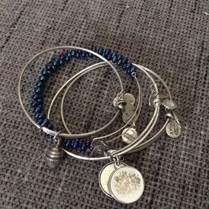 Bundle of Alex and Ani bangle charm bracelets